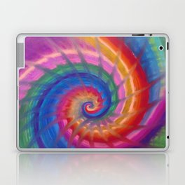 Spring into action with colour spirals Laptop & iPad Skin