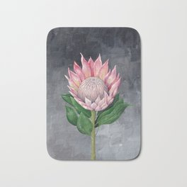 Protea Flower Painting Bath Mat