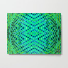 FLUX #3  Optical Illusion Vibrant Colorful Psychedelic Trippy Design Metal Print