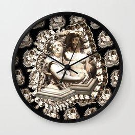 Tuileries Garden couple sculpture, Paris France Wall Clock