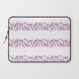 Modern abstract violet purple watercolor geometrical stripes Laptop Sleeve