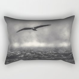 Hunting The Fog Line Bald Eagle Rectangular Pillow