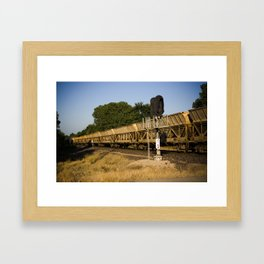 Golden Train Framed Art Print