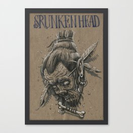 Shrunken head / Tsansa (DRAWLLOWEEN 26/31) Canvas Print