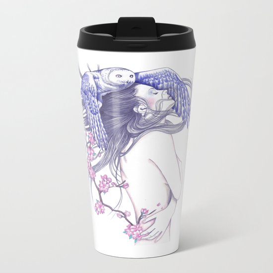 Blue Wind Metal Travel Mug