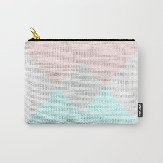 Geometric Marble Carry-All Pouch