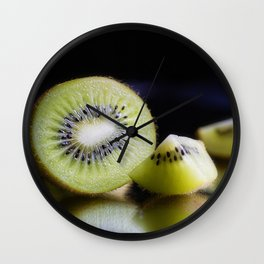 Sliced Kiwi Fruit - Kitchen or Cafe Decor Wall Clock