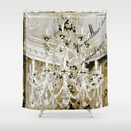 Crystal Pearls Chandelier Paris Shower Curtain