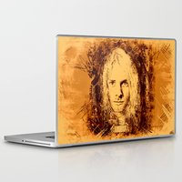 kurt cobain Laptop & iPad Skins featuring 27 Club - Cobain by MUSENYO