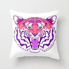 Pink Endangered Throw Pillow