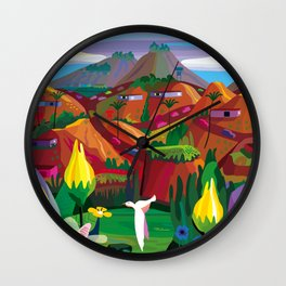 Marin County: The Hills have Eyes Wall Clock