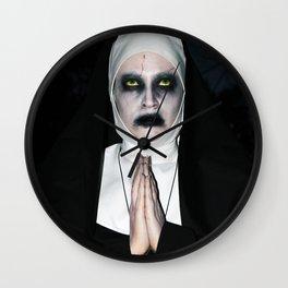 Valak Praying Wall Clock