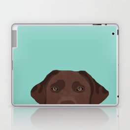 Chocolate Lab dog breed portrait pet art dog lover gifts labrador retriever Laptop & iPad Skin