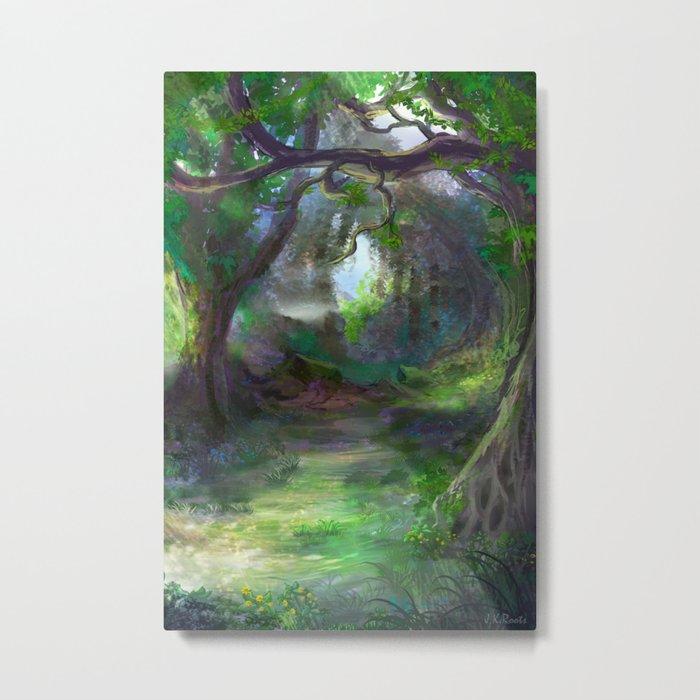 Elven Forest Metal Print
