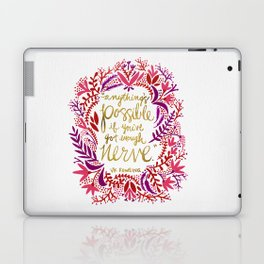 Anything's Possible – Gold & Red Laptop & iPad Skin
