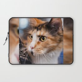 Red hair cat head portrait Laptop Sleeve