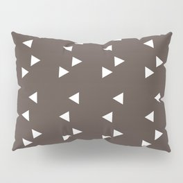Cappuccino Brown Triangle Pillow Sham