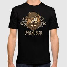 Urbane Bear MEDIUM Mens Fitted Tee Black