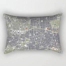 Madrid city map engraving Rectangular Pillow