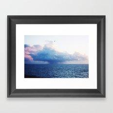 Candyfloss Clouds Framed Art Print
