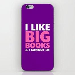 I LIKE BIG BOOKS AND I CANNOT LIE (Pink & Purple) iPhone Skin