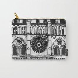 Notre Dame de Paris, cathedral, illustration Carry-All Pouch