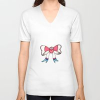 sylveon V-neck T-shirts featuring Sylveon Princess by Papa-Paparazzi