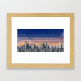 Futuristic Milan Skyline Framed Art Print