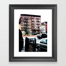 Outside Katz's Deli, NYC Framed Art Print