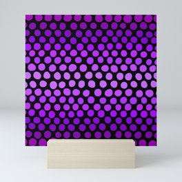 Violet Ombre Dots Mini Art Print