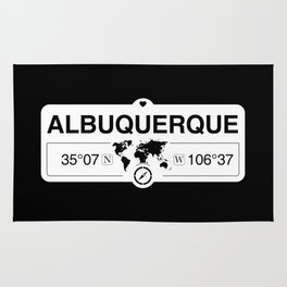 Albuquerque New Mexico GPS Coordinates Map Artwork Rug