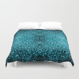 Beautiful Aqua blue glitter sparkles Duvet Cover