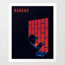 NARCOS: Agent Peña at Hotel Estrella Art Print