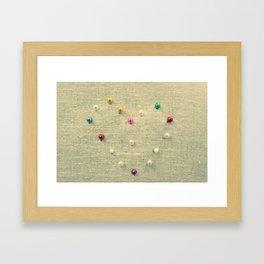 I Sew Love You Framed Art Print
