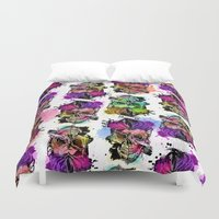 kindle Duvet Covers featuring 128@AllSkull™ by ALLSKULL.NET