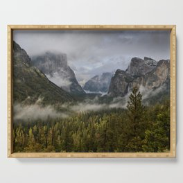 Yosemite National Park / Tunnel View  4/26/15 Serving Tray