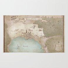Map of Hogwarts Rug