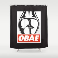 booty Shower Curtains featuring OBAE the booty. by OBAE the booty.