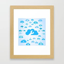 Industry a cloud Framed Art Print
