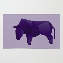 Do You Want to Play? - Origami Purple Bull Rug