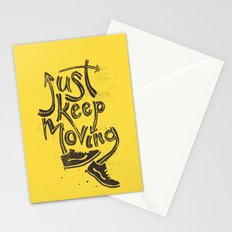 Just Keep Moving Stationery Cards