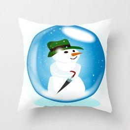Snowman Ball Throw Pillow