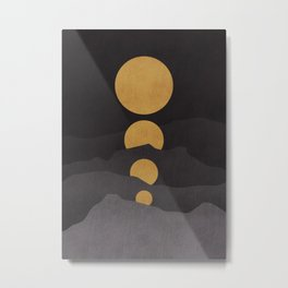 Rise of the golden moon Metal Print