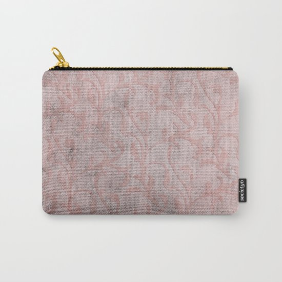 Dirty princess - Elegant Damask pattern with grunge effect Carry-All Pouch