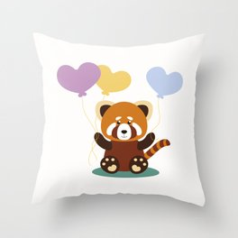 Lovely Red Panda Throw Pillow