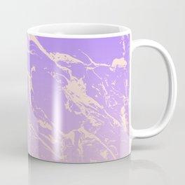 Modern blush pink purple ombre gradient marble pattern Coffee Mug