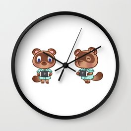 Timmy tommy nook playing switch animal crossing Wall Clock