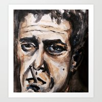 lou reed Art Prints featuring Lou Reed by lo defran