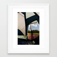 camping Framed Art Prints featuring Camping by Jessica Krzywicki