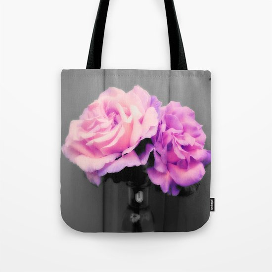 flowERS Pink Purple Pop of Color Tote Bag